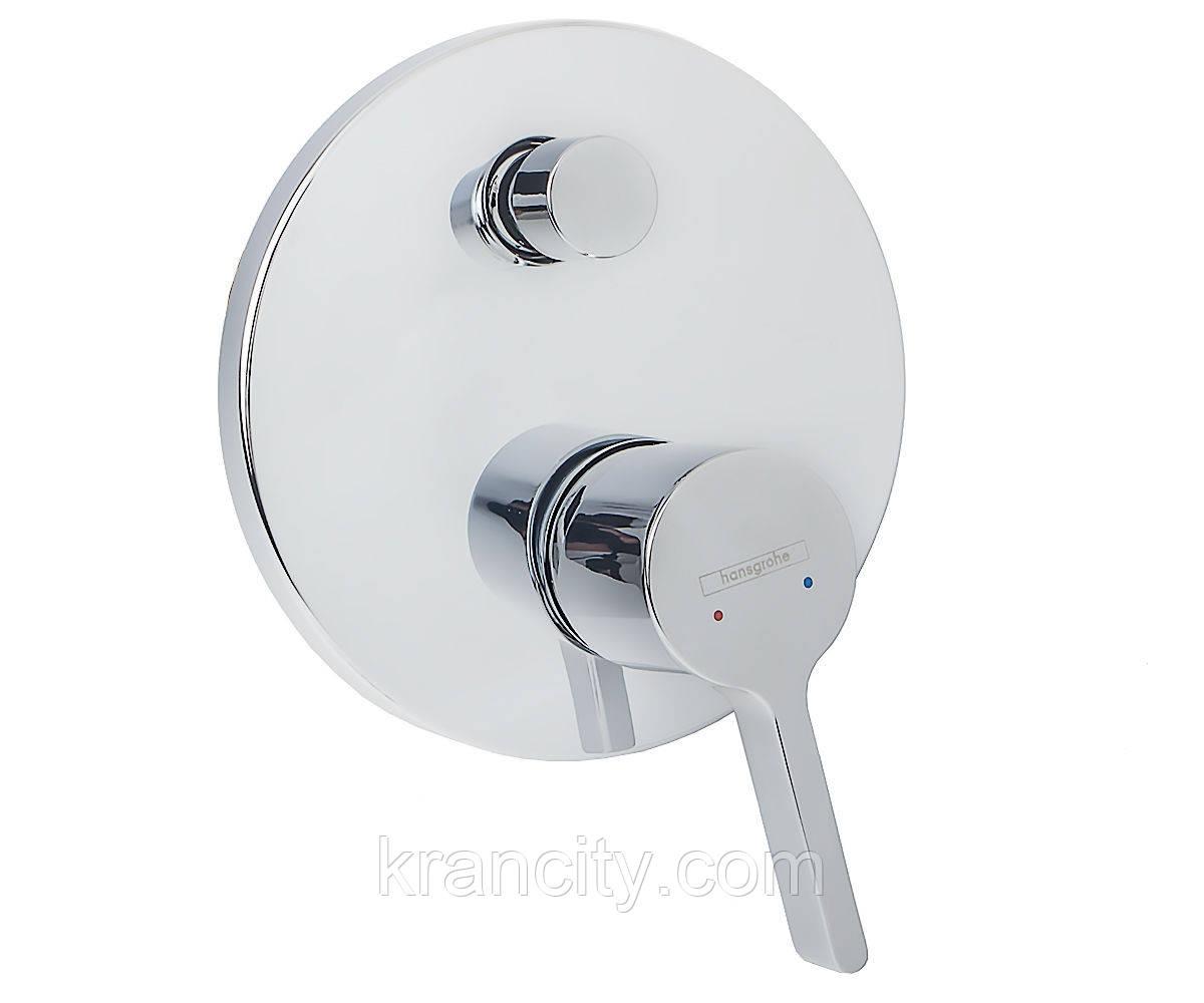 Внешняя часть для встраиваемого смесителя для ванны и душа HANSGROHE METRIS S 31465000,Германия
