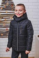 Куртка зимняя для мальчика черная