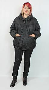 Женская короткая куртка Dalida (Турция) 54 56 58 р, черный