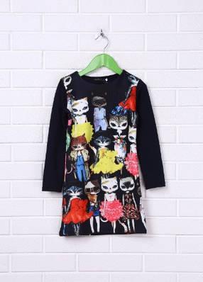 Яркое детское платье. Платье Котёнок