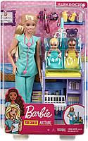 Игровой набор Барби Педиатр блондинка - Barbie Baby Doctor Playset with Blonde Doll