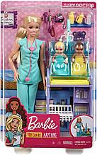 Ігровий набір Барбі Педіатр блондинка - Barbie Baby Doctor Playset Blonde with Doll