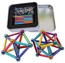 Магнитный конструктор с палочками Неокуб разноцветные магнитные шарики Neo разноцветный нео куб антистресс.