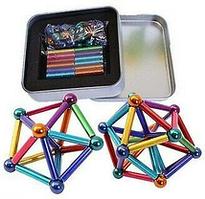 Магнитный конструктор с палочками Неокуб разноцветные магнитные шарикиNeo разноцветный нео куб антистресс.