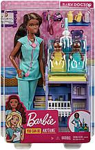 Кукла Барби Педиатр брюнетка - Barbie Baby Doctor Playset with Brunette Doll