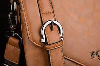 Мужская кожаная сумка Polo. Модель 0435, фото 3