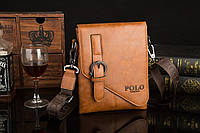 Мужская кожаная сумка Polo. Модель 0435, фото 5