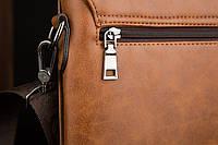 Мужская кожаная сумка Polo. Модель 0435, фото 6