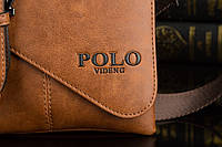 Мужская кожаная сумка Polo. Модель 0435, фото 8