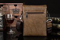Мужская кожаная сумка Polo. Модель 0435, фото 9