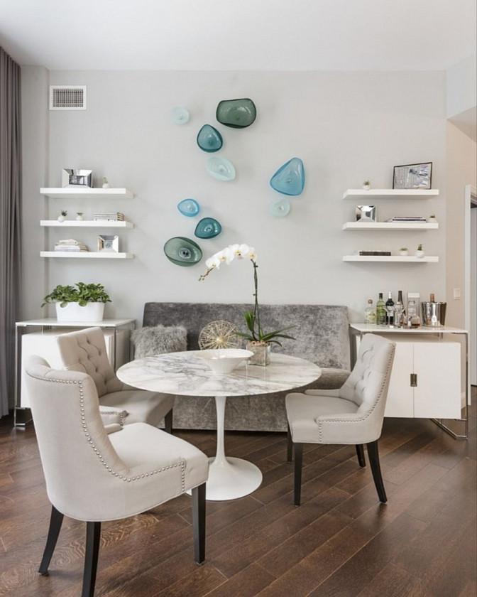 Стол круглый Тюльпан, МДФ, диаметр 80 см, цвет белый