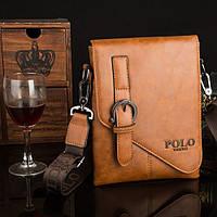 Мужская кожаная сумка Polo. Модель 0435, фото 2