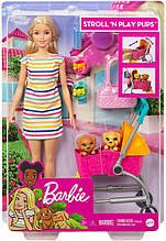 Кукла Барби Прогулка со щенками - Barbie Stroll 'n Play Pups Playset with Blonde Doll