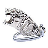 Latest Tiger Head Stainless Steel Male Chastity Device cocks Cage, фото 3