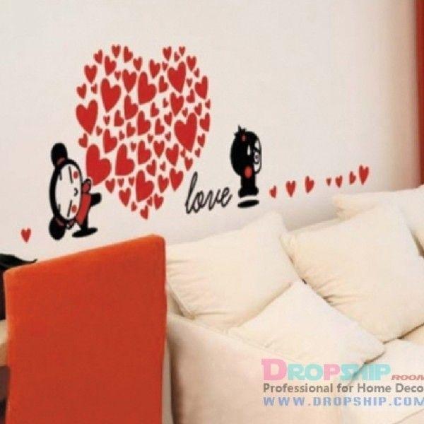 РОЗПРОДАЖ! Вінілова наклейка - Love, серце з сердечок