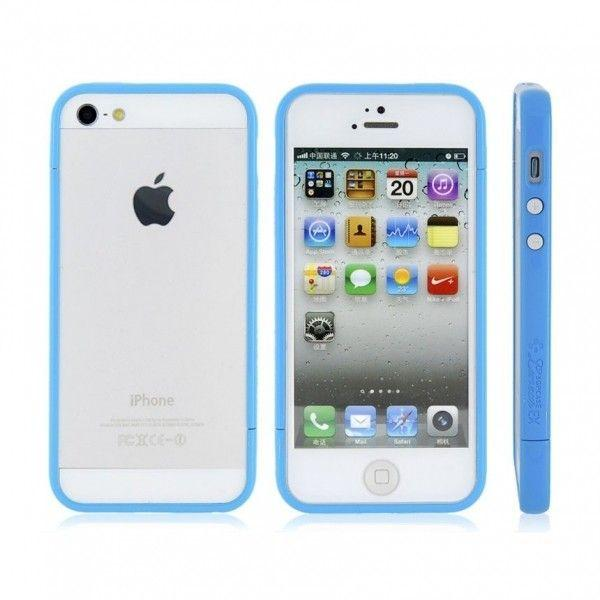 РОЗПРОДАЖ! Glossy Injection Painting Design PC Up & Down Protective Frame for iPhone 5 (Blue)