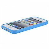 РОЗПРОДАЖ! Glossy Injection Painting Design PC Up & Down Protective Frame for iPhone 5 (Blue), фото 2