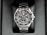 Спортивные часы Tag Heuer Formula 1 AAA кварцевые наручные мужские на стальном браслете и с хронографом