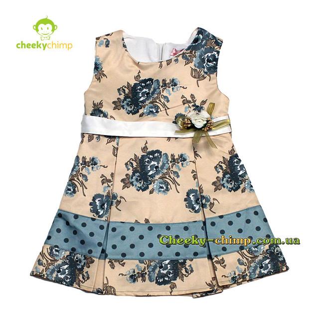 Платье на девочку Голубое 2, 3, 4 года