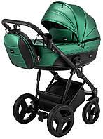 Дитяча коляска 2 в 1 Bair Play Plus BPL-111 зелений (перламутр) - чорний