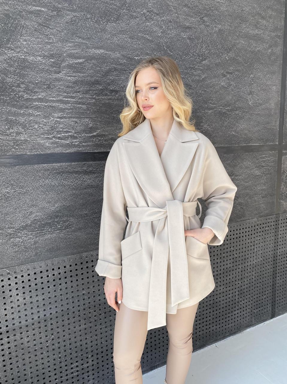 Трендові кашемірове пальто демісезонне Дефіле 10585