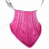 Благородний шкіряний нашийник рожевий, фото 2