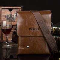 Мужская кожаная сумка-барсетка. Модель 0436
