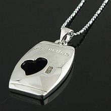 РАСПРОДАЖА! Ожерелье с вырезным сердечком