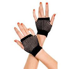 Чорні сітчасті рукавички
