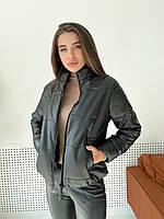 Демисезонная женская куртка из эко кожи