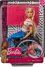 Уценка! Кукла Барби Модница 132 на коляске (блондинка) - Barbie Fashionistas Doll 132, Wheelchair