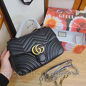 Сумочка Gucci черная кожаная