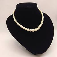 Намисто з якіснихрічкових перлів білого кольору L=42 см Ø=4-9 мм
