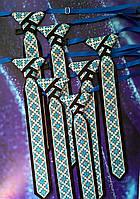 Краватка з синім українським орнаментом на випускний вечір, фото 1
