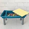 Столик  3 в 1 (для сборки конструктора, рисования, песочница)  арт. 7702, фото 3
