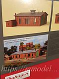 Auhagen 11403 Сборная модель - Локомотивное депо для 2х локомотивов длиной до 20 см, масштаб H0,1:87, фото 2
