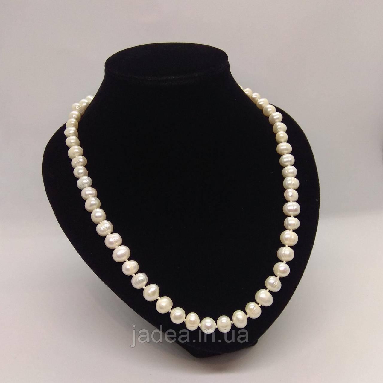 Намисто з великих білих перлів L=58-60 см Ø=9 мм