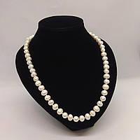 Намисто з великих білих перлів L=58-60 см Ø=9 мм, фото 1