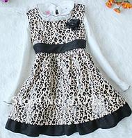 Леопардовый сарафан и блузка на 2-3 года