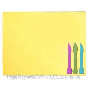 /Дощечка для пластиліна, 3 стека, жовта