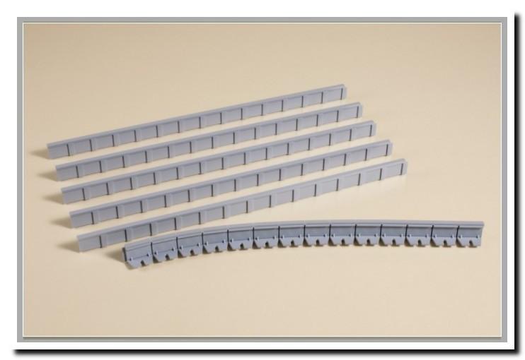 Auhagen 41200 Комплект бортов для пассажирских платформ длиной 241мм - 6штук, высота 13мм, масштаба 1:87
