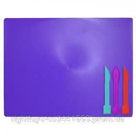 /Дощечка для пластиліна, 3 стека, фіолетовий