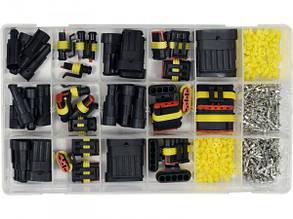 Герметичні Роз'єми(1-6 PIN)Для Електроконтактів Набір(Комплект)424 шт YATO YT-06869