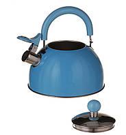 Чайник A-PLUS со свистком 2.0 л (1340) Голубой (Уценка)