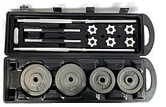 Комплект Premium - штанга + гантелі металеві - 50 кг в подарунковому кейсі Набор штанга гантели 50 кг