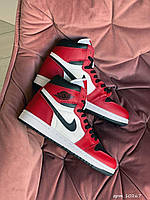 Кроссовки женские демисезонные в стиле Nike Air Jordan Красные с белым Весна/осень