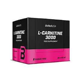 Жиросжигатель BioTech L-Carnitine 3000, 20 ампул/уп Лимон