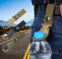 Зажим держатель карабин крепление фиксатор для бутылки с водой