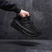 Мужские чёрные легкие текстильные кроссовки Размеры 40, 41, 42, 43, 44, 45