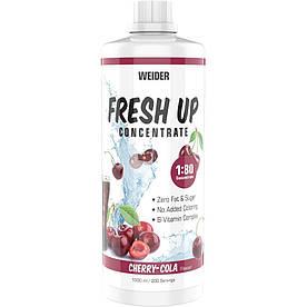 Изотоники Weider Fresh Up Concentrate 1:80, 1 литр Вишня-кола
